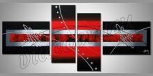 Black and red picture, obraz  je ručne maľovaný