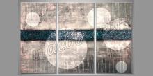 Obraz biele bubliny, ručne maľovaný