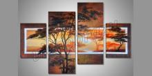 Príroda za rána, obraz ručne maľovaný