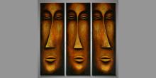 Ručne maľovaný obraz, Tri tváre