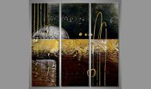 Ručne maľovaný obraz, troj dielny Rustikál