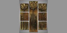 Sedem dielny ručne maľovaný obraz, Tulipán