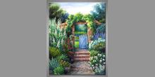 Ručne maľovaný obraz, Otvorená  brána