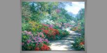 Cesta po lese, ručne maľovaný obraz