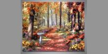 Jesenná prechádzka, maľovaný obraz ručne