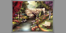 Kamenný most, obraz ručne maľovaný