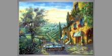 Krajina Italy, obraz maľovaný ručne