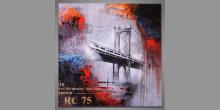 Maľovaný obraz ručne, Betónovy most