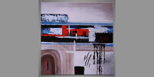 Light Modern Art, obraz ručne maľovaný