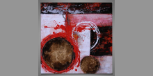 Maľovaný obraz ručne Spadnuté hviezdy, Moderné umenie