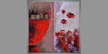 Maľovaný obraz ručne Zabudnuté ruže, Moderné umenie
