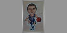 Basketbalista, maľované ručne