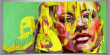 Blond vlasy, obraz maľovaný ručne