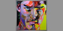Face undergroud, obraz maľovaný ručne