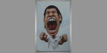 Futbalista, ručne maľovaný obraz