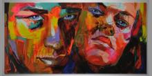 Man and woman, obraz maľovaný ručne
