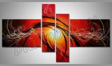 """Orange sun """" 4. Dielny, obraz ručne maľovaný"""