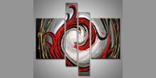 Červený drak, obraz ručne maľovaný
