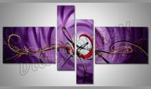 Fialový obraz, ručne maľované