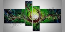 Obraz zelený, maľované ručne