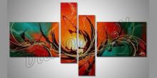 Orange abstract, obraz ručne maľovaný