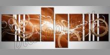 Pruhy v obraze, maľovaný obraz ručne