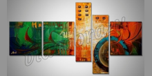 """Orange"""" 5. Dielny obraz, maľované ručne"""