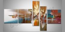 5. Dielny Abstract obraz, maľované ručne