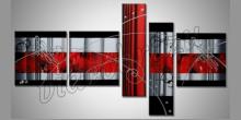 5. Dielny červený obraz, maľované ručne