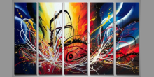 5.Dielný  ručne maľovaný abstraktný obraz