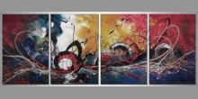 Abstract, maľovaný obraz ručne