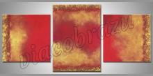 3.Dielne ručne maľovaný obraz, žlto červené Zátišie