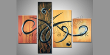 Farebný štvor obraz, obraz  je maľovaný ručne
