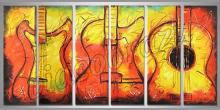 Gitara, ručne maľované