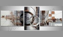 Dva kruhy, ručne maľované