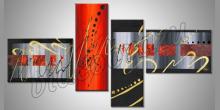 Obraz  je maľovaný ručne, Oranžovo-čierna