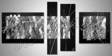 Obraz  je ručne maľovaný, štvor obraz Black