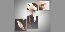 3-Dielný kvet, ručne maľované