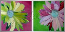 Abstrakt kvet, ručne maľovaný obraz