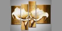 Dva kvety, obraz ručne maľovaný