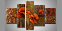 Maľovaný obraz ručne, Kvet masív