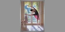 Krásna tanečnica, ručne maľovaný obraz