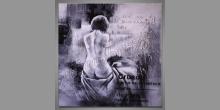 Obraz maľovaný ručne, Nahá žena