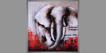 Big elephant, ručne maľovaný obraz