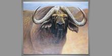Byvol, ručne maľovaný obraz