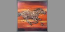 Dostihový kôň, obraz maľovaný ručne