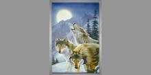 Draví vlci, maľovaný obraz ručne