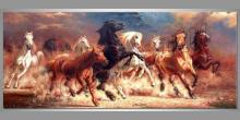 Dupot koní, umelecky maľovaný obraz