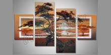 Cesta púšťou, ručne maľované