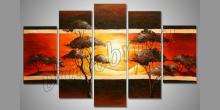 Hrejivé slnko, umelecky maľovaný obraz